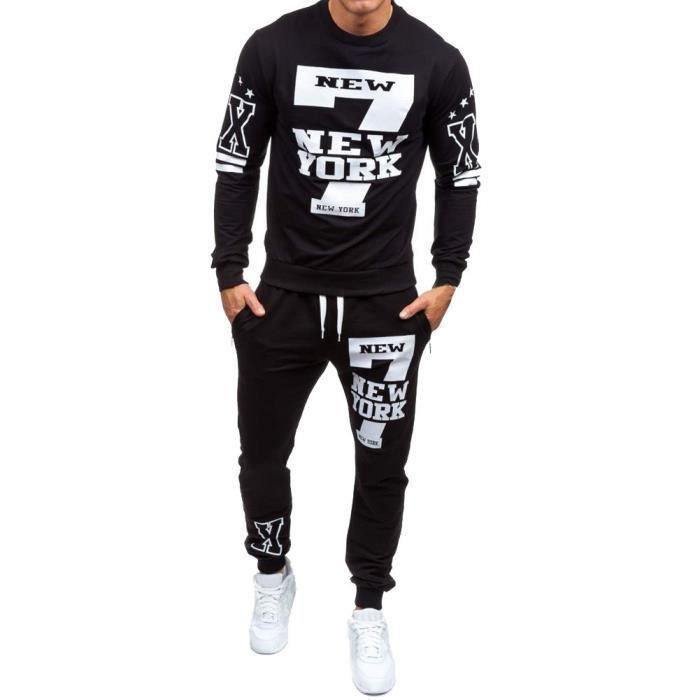 Ensemble de pantalons de survêtement imprimés pour hommes, automne-hiver LJH80814331BKS_Youn