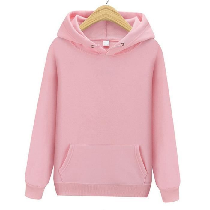 Sweat,Sweat à capuche mode femmes produits de noël couleurs solides sweats à capuche taille S XXXL - Type Rose