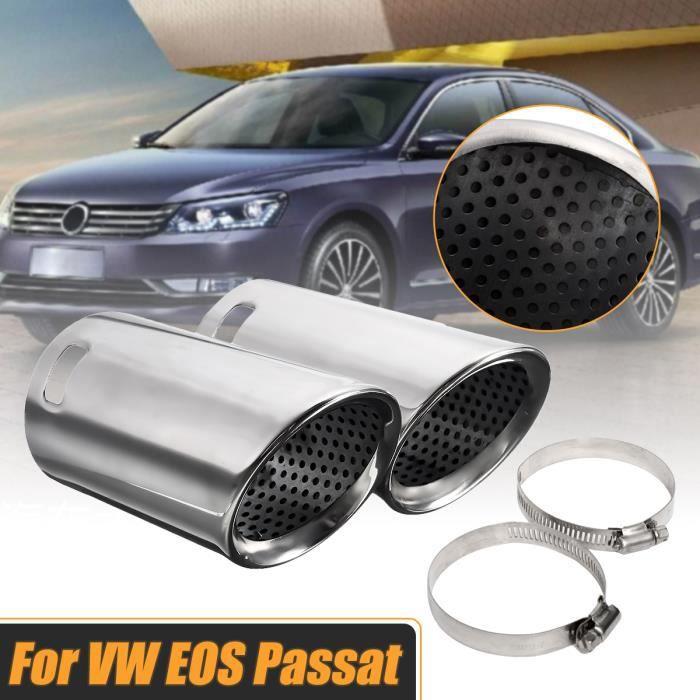 NEUFU Paire De Tuyaux Silencieux D'Echappement Chrome Pour VW EOS Passat B6 CC Break
