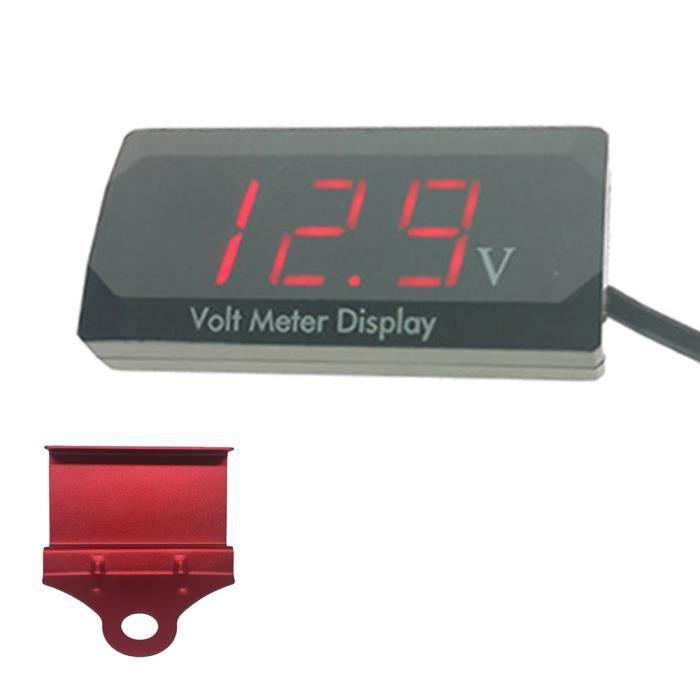 LED DETECTEUR DE TENSION Voltmètre à affichage numérique pour détection tension de voiture moto volt jauge panneau mètre 12v