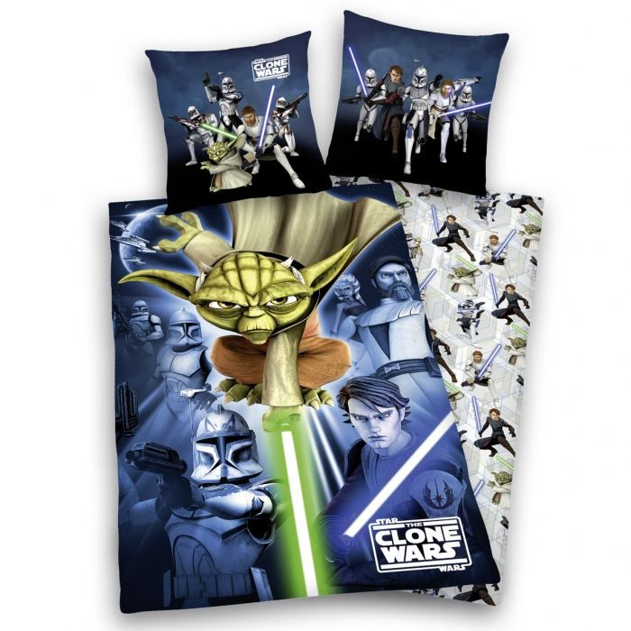 star wars the clone wars parure housse de cou achat vente parure de couette soldes d. Black Bedroom Furniture Sets. Home Design Ideas