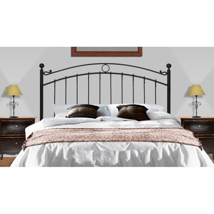 t te de lit en fer forg mod le sofia achat vente t te de lit cdiscount. Black Bedroom Furniture Sets. Home Design Ideas