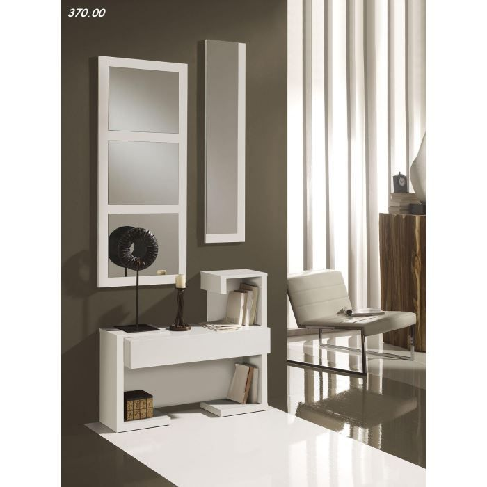 console avec miroir vera 21 00 tout blanc achat vente. Black Bedroom Furniture Sets. Home Design Ideas