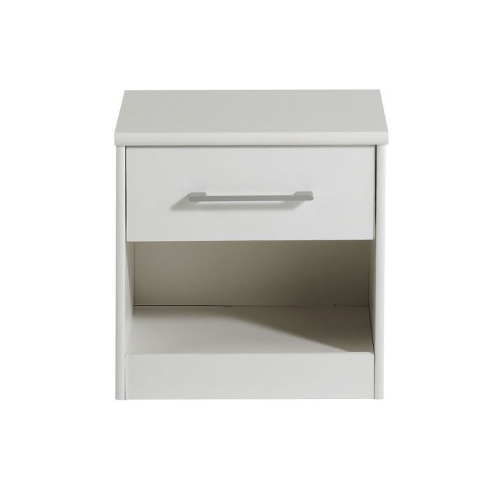 table de chevet adolescent 1 tiroir blanc lilou achat. Black Bedroom Furniture Sets. Home Design Ideas
