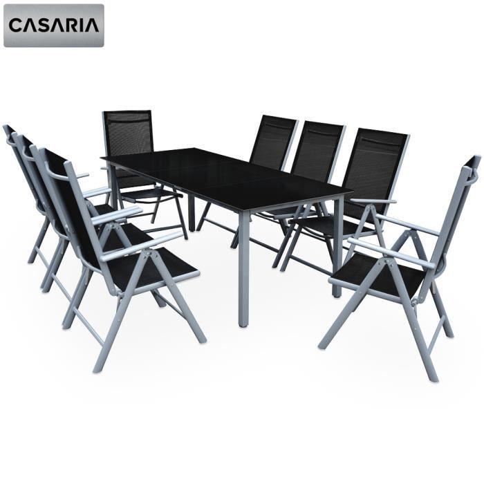 Aluminium avec Table en Verre • dossiers Hauts inclinables ...