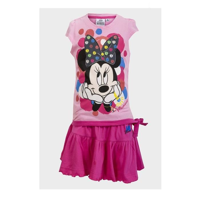 Rose Disney Filles Minnie Mouse Robe