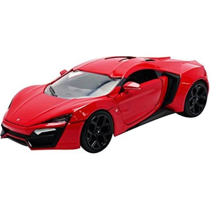 lykan hypersport fast and furious 7 echelle 1 24 rouge achat vente voiture camion. Black Bedroom Furniture Sets. Home Design Ideas
