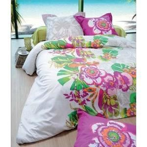 housse de couette 240x260 cm tropicalia 100 coton superieur 52 fils cm2 2 to 63x63 cm achat. Black Bedroom Furniture Sets. Home Design Ideas
