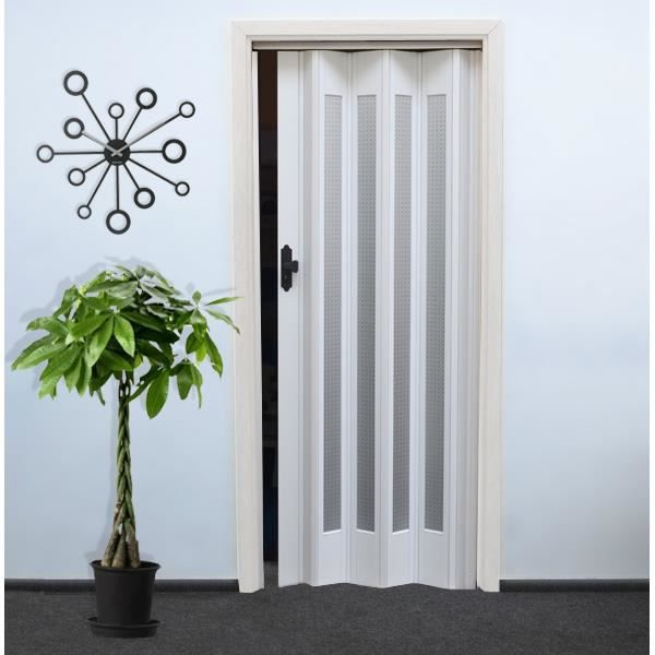 Porte pliante f hr 011 blanc achat vente porte d for Porte accordeon