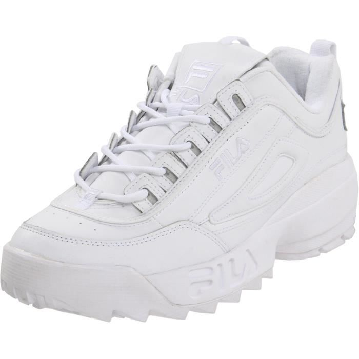 e35beec8928 Fila Disruptor Ii Sneaker H7I8R Taille-44 1-2 Blanc Blanc - Achat ...