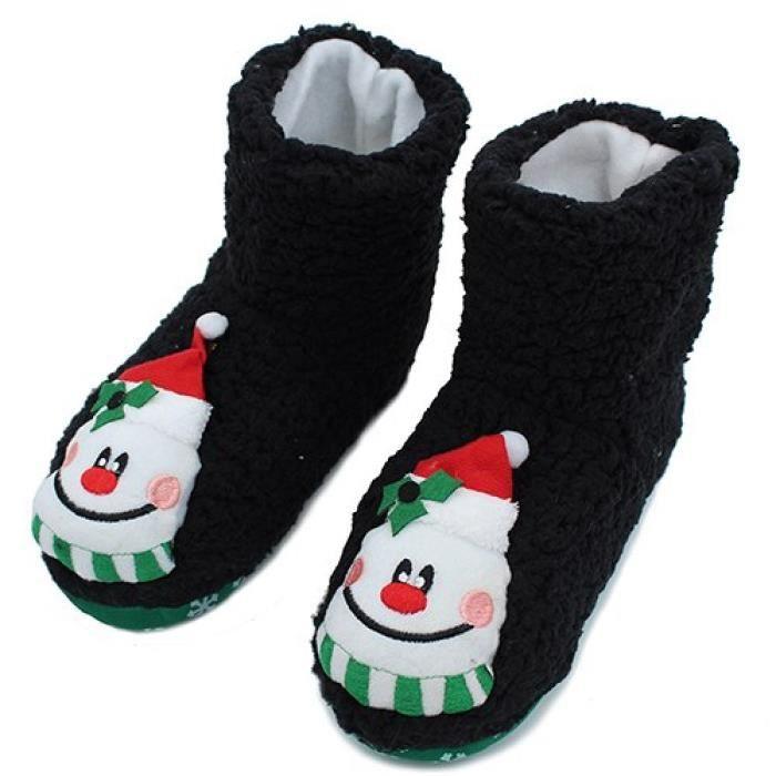 Femme Pantoufles Gripper Chaussettes Chaussons Nouveauté Noël Animal Design Cosy Chaussettes