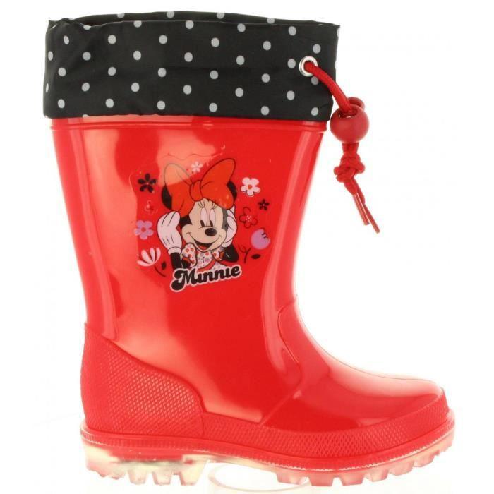 Bottes de pluie pour Fille Minnie S99305G ROSSO