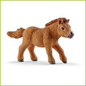 FIGURINE - PERSONNAGE SCHLEICH 13777 Figurine Mini Poulain Poney Shetlan