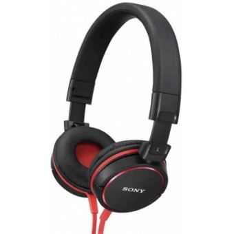 sony mdr zx600 r casque audio rouge noir casque. Black Bedroom Furniture Sets. Home Design Ideas