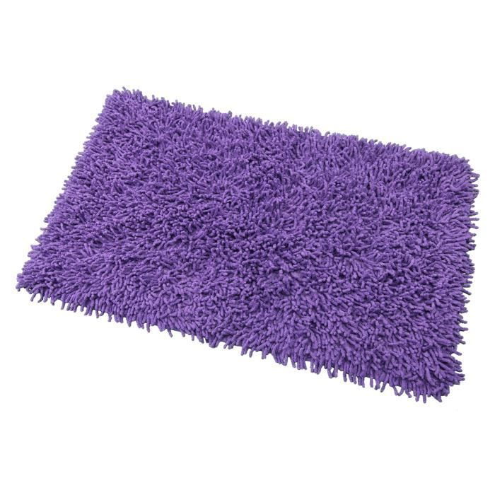 tapis de bain coton violet achat vente tapis de bain. Black Bedroom Furniture Sets. Home Design Ideas