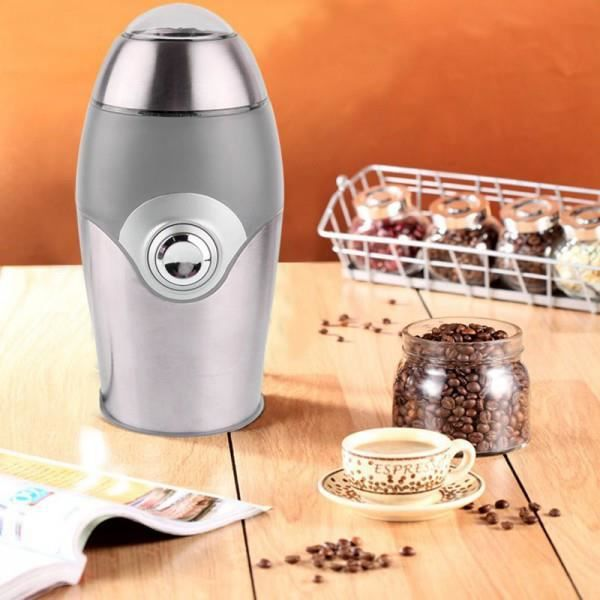 Moulin caf en grain machine grinder lectronique portable gris achat v - Machine a cafe en grain ...