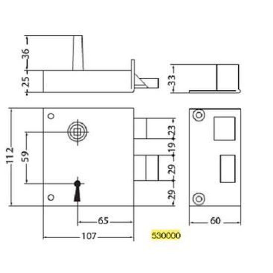 cl/é /à chiffres JPM SAS 530000-02-1Y P/êne dormant 1//2 tour de grille type ALSACE