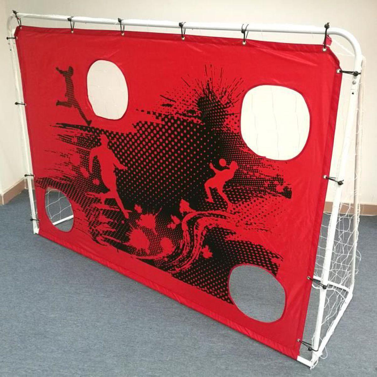 MINI-CAGE DE FOOTBALL But d'entraînement de foot en métal avec cibles -