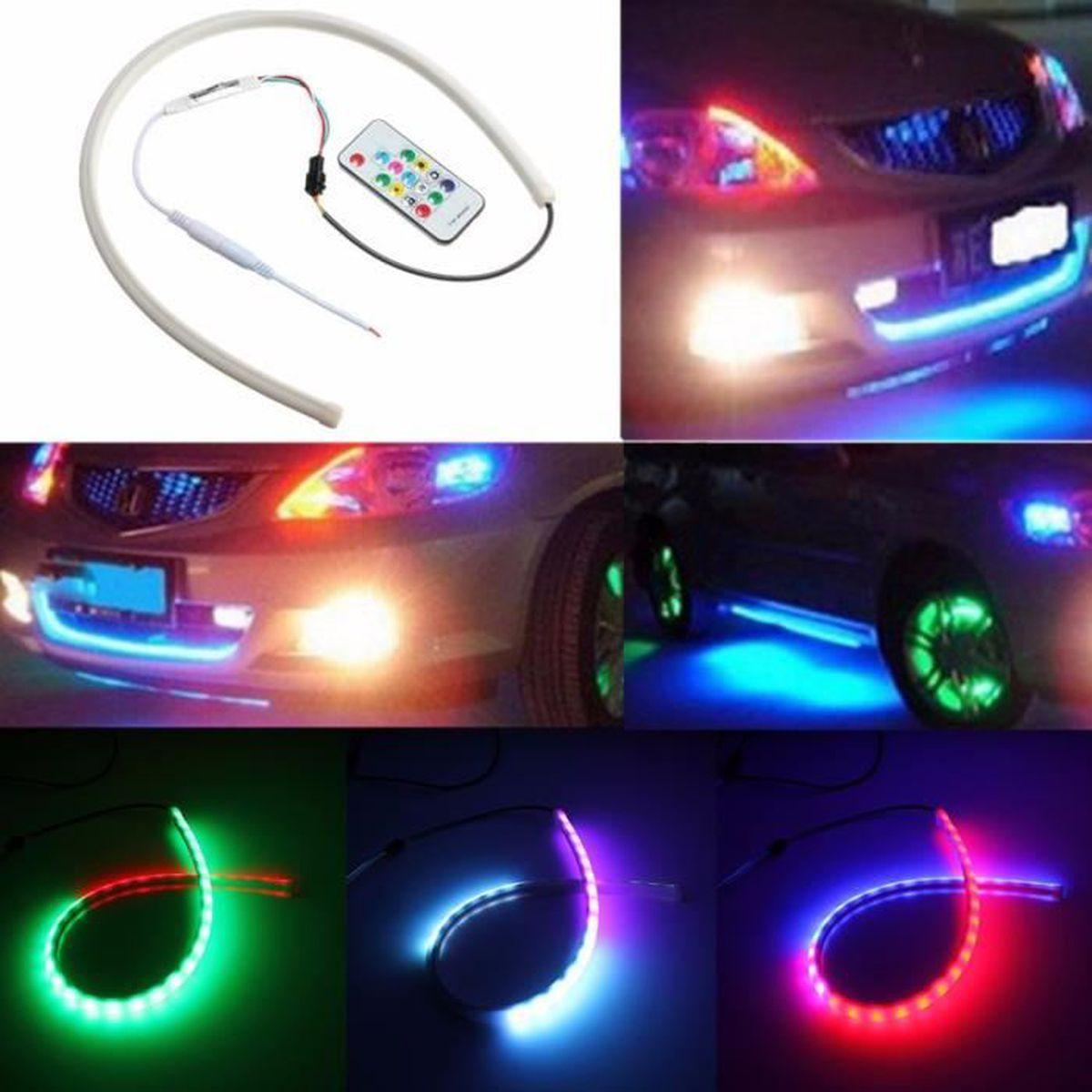 4 in1 12 DEL Voiture Intérieur Atmosphère Décoration Lumière 12 V Neon Lampe Bandes Ampoules UK