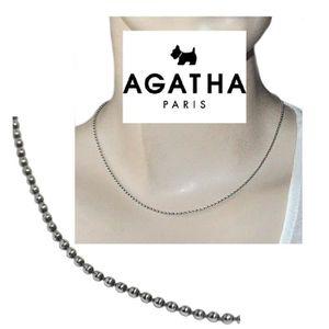 CHAINE DE COU SEULE AGATHA Collier chaîne maille boule 1,8mm argent ma