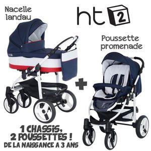 POUSSETTE  Poussette Combinée Duo 2 en 1 HT2