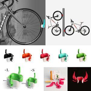 RACK RANGEMENT VÉLO Taille L BLEU - Support Mural Vélo VTT Rack Croche