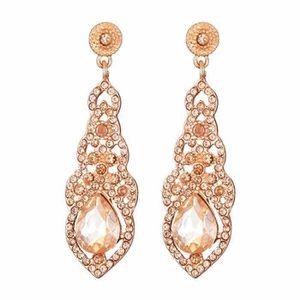 Femme Paire Boucles D/'reilles Clous Perle Drop Long Frange Dangle Bijoux Mariage