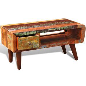 TABLE BASSE KKmoon 90 x 45 x 45cm Table Basse de Salon en Bois