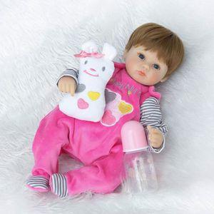 POUPÉE Bébé Poupée Simulé Reborn avec Tétine -  40cm Cade