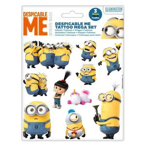 JEU DE TATOUAGE MINIONS Mega Set Tattoos