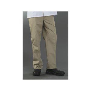 PANTALON PRO Pantalon de cuisine beige Homme taille élastiquée