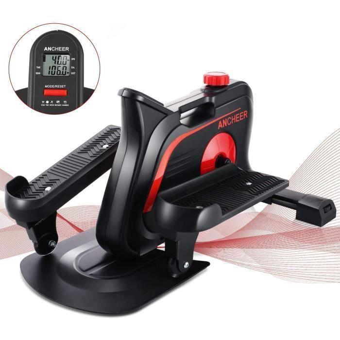 ANCHEER Vélo Elliptique CROSSER Mini , Vélo d'appartement Trainer Stepper Portable ,10 Nivieaux de Résistances Magnétiques Écran LCD