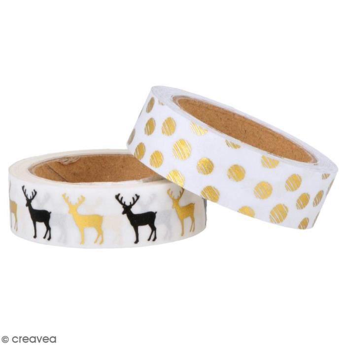 Masking Tape Artemio - Golden deer - 1,5 cm x 5 m - 2 pcs