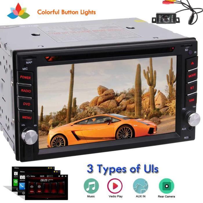 EinCar 6,2 pouces à écran tactile Double Din Car Radio Head Unit Dash Car Stereo Audio USB - SD - FM - AM - RDS Récepteur Music Vide