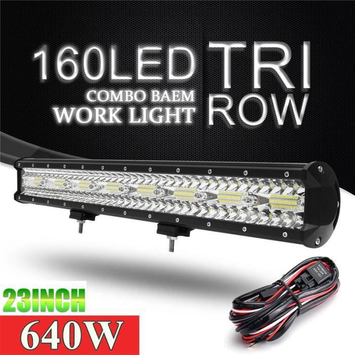projecteur de travail, pour voiture, camion, Suv, tracteur, bateau, Atv, 4x4, 23 pouces, lumière LED barres, 12V 24V