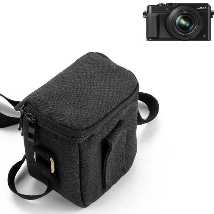 Pour Panasonic Lumix DMC-LX100 Épaule Caméra Mallette transport Sac résistant chocs Météo protecteur compact, noir - K-S-Trade(TM)