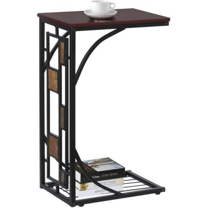 Yaheetech Table d'appoint Vintage Table Basse/anguleuse 21 x 30,5 x 53 cm Bout de canapé Salon chambre