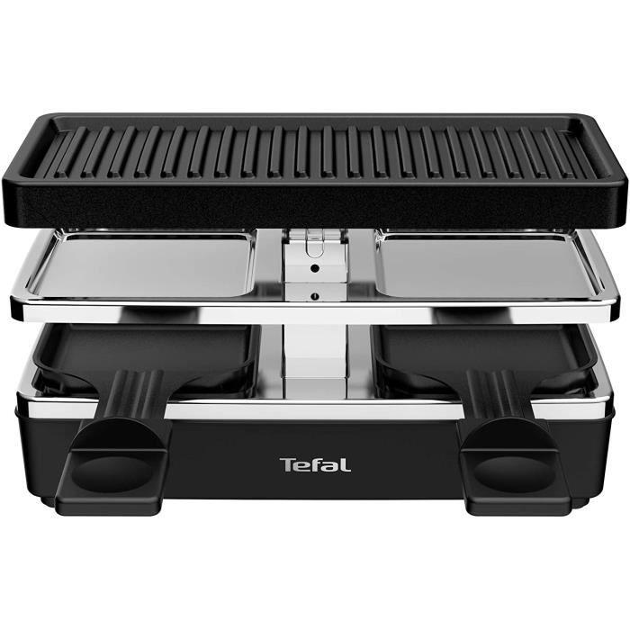 APPAREIL A RACLETTE Tefal RE2308 Plug & Share Raclette 400 W 2 po&ecirclons + plaque de cuisson Interrupteur marche-arr&ecirct16