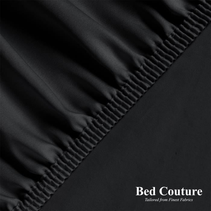 Drap Housse 100% Satin de Coton égyptien peigné - bonnet de 25cm. Tissage très fin, toucher doux et soyeux, qualité hôtel cinq