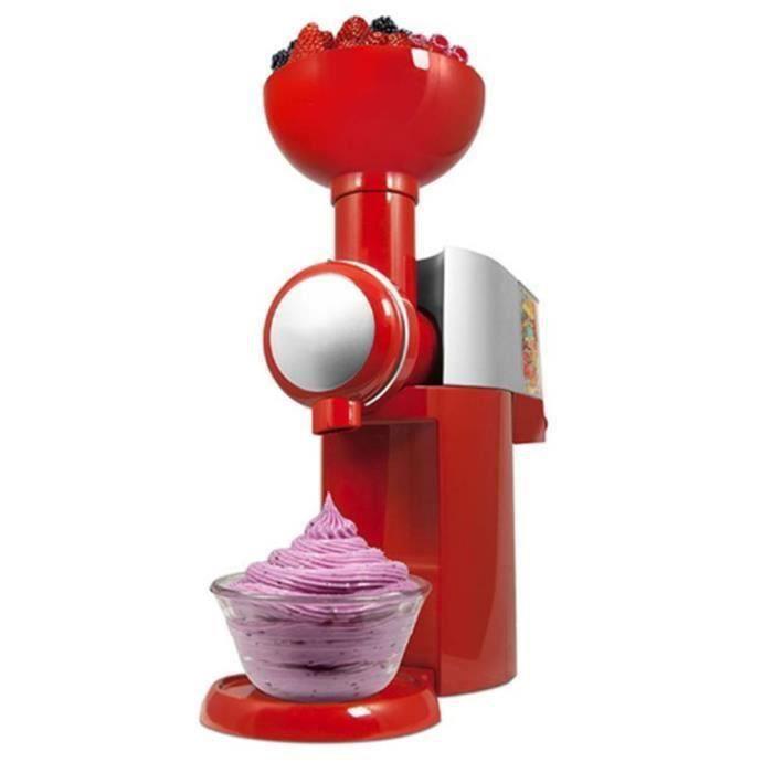 220v Un ensemble de Pratique machine à crème glacée maison 220 * 130 * 315mm EU plug rouge BEFA4317