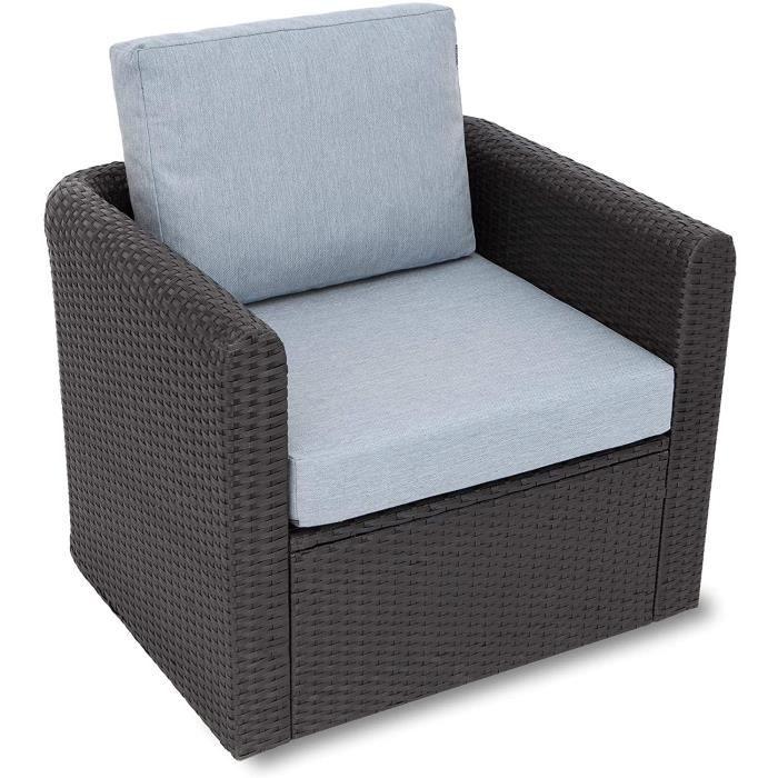 coussin Miatech Coussin de jardin, pour chaise, fauteuil rotin, fauteuil jardin, coussin fauteuil rotin, coussin fauteuil jard[1053]