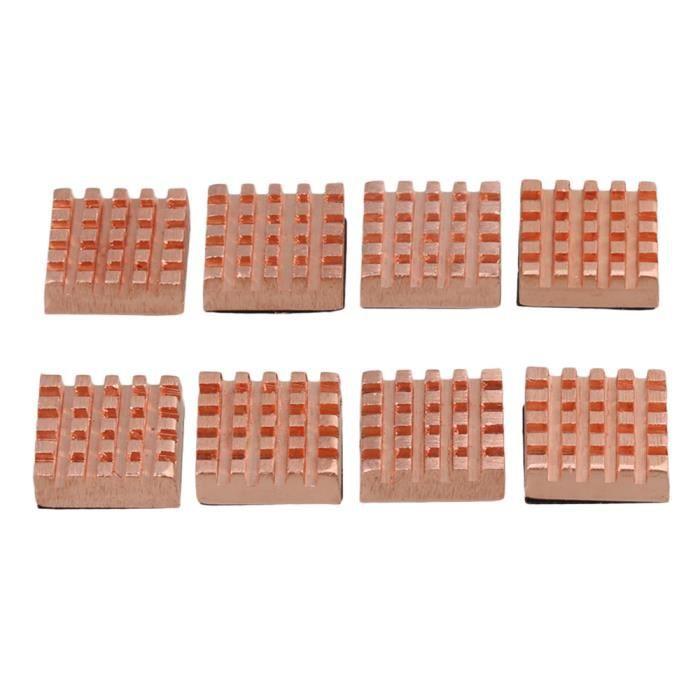 8x Mini Copper Mémoire dissipateur de chaleur Ram dissipateur de chaleur