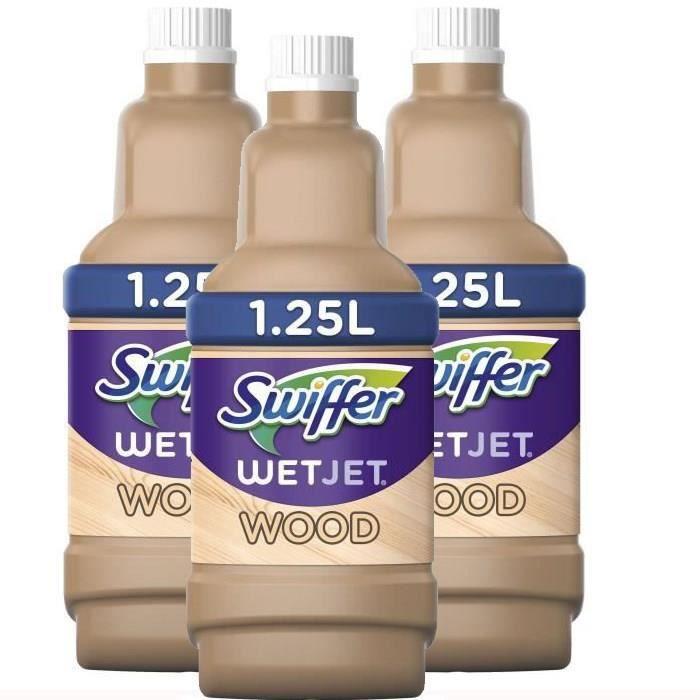 [Lot de 3] SWIFFER Wetjet Wood Liquide Nettoyant 1.25L
