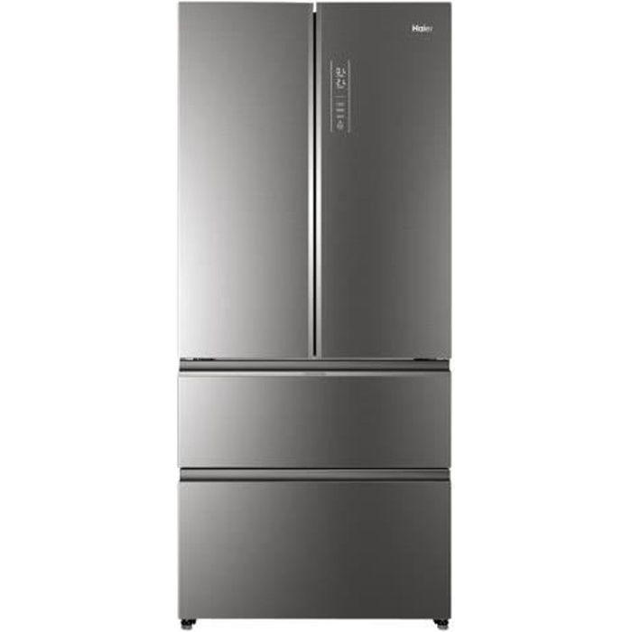 HAIER HB18FGSAAA - Réfrigérateur congélateur - Multi-portes - 508L (351+157) - Total No Frost - A++ - L83 x H190 cm - Inox