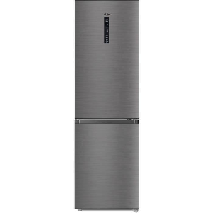 HAIER R2DF512DHJ - Réfrigérateur combiné - No Frost - 341L (233+ 108) - Froid ventilé - L59.5 x H190 cm - Silver