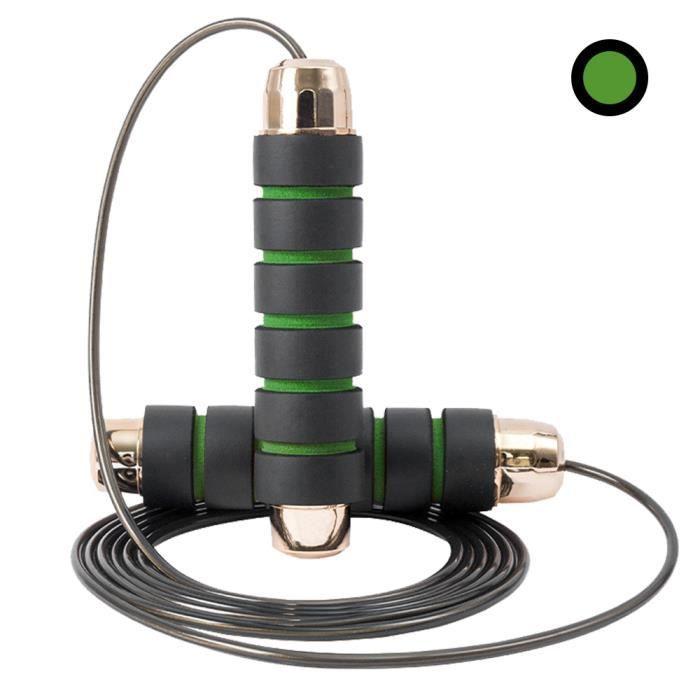 Corde à sauter de longueur réglable corde à sauter à roulement en acier fin câble robuste poignée en mousse corde à sauter pour ex-7
