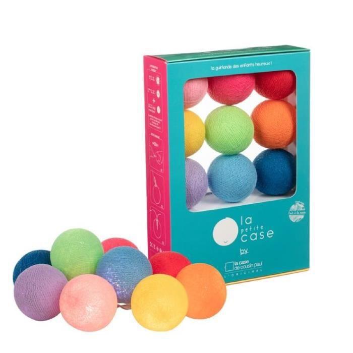 OSCAR-Coffret Guirlande / veilleuse lumineuse 9 boules avec timer et port USB L270cm Multicolore La Case de Cousin Paul L 270cm /