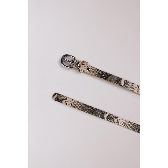 Ceinture fine en python DOUALA - Couleur - Python, Taille - L