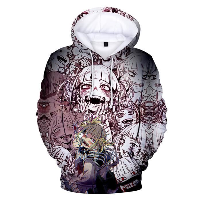 Sweatshirt à Capuche Manches Longues My Hero Academia Sweat Himiko Toga 3D Pull Personnalité Hoodies