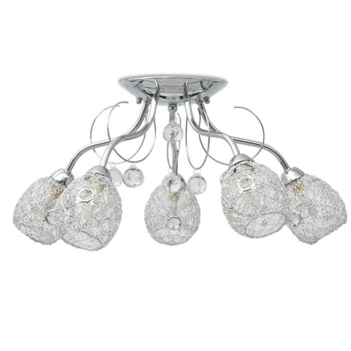 Plafonnier Lampe de Plafond Lustre moderne pour 5 ampoules G9 200 W